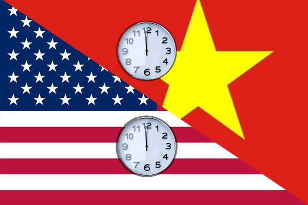 Việc xác định chênh lệch giữa múi giờ Mỹ và múi giờ Việt Nam rất khó khăn