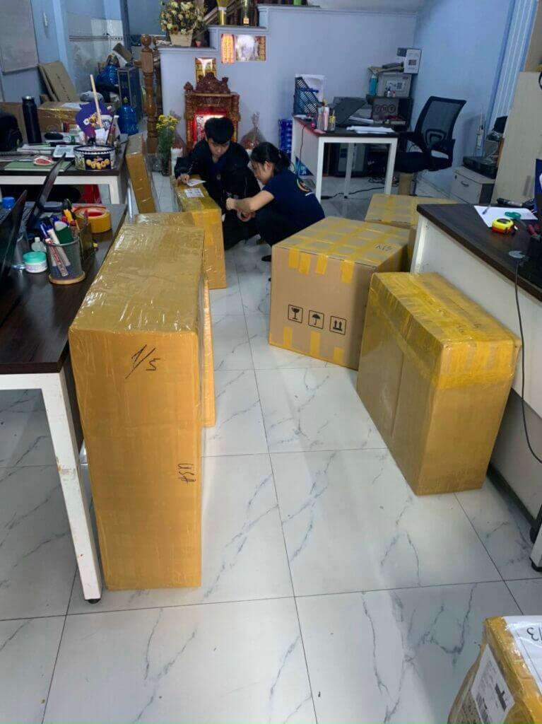 đóng gói gửi hàng đi mỹ