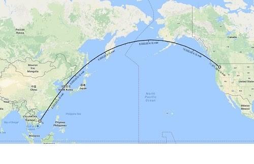Mỹ và Việt Nam cách nhau nữa vòng trái đất